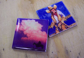 Art Tile Magnet Set of 2, the same image, Example