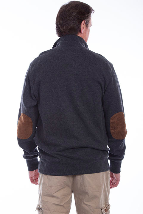 Farthest Point Collection Pullover Sweater Charcoal Back