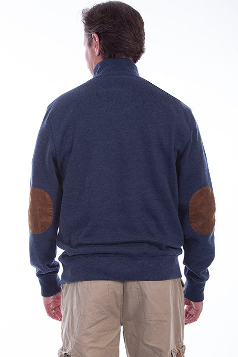 Farthest Point Collection Pullover Sweater Navy Back