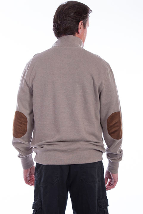 Farthest Point Collection Pullover Sweater Taupe Back