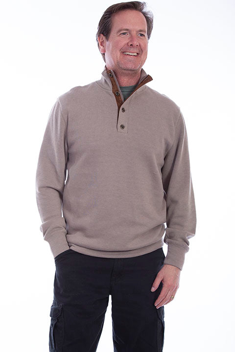 Farthest Point Collection Pullover Sweater Taupe Front