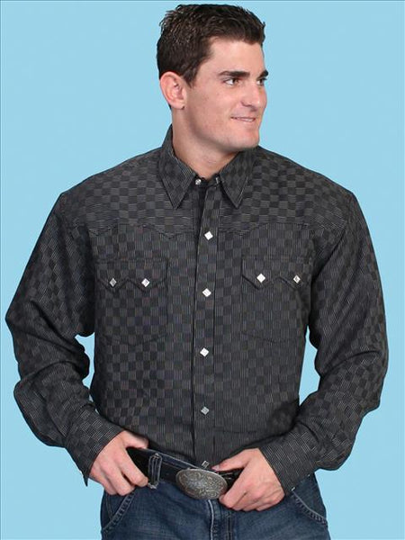 Men's Western Shirt Collection: Black Print