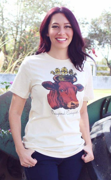 Original Cowgirl Clothing T-Shirt Queen Of The Ranch Ladies' Sizes