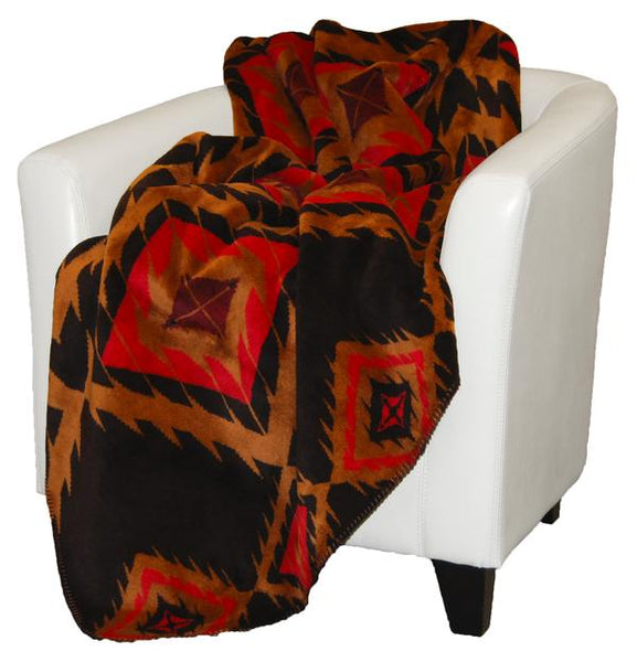 Denali Blankets Red Diamonds Throw Blanket Front