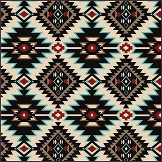Rockmount Ranch Home Collection: Native American Pattern Black on puerto rican home designs, native american interior design ideas, native american log houses, cowboy home designs, southwestern home designs, 1800's home designs, western style home designs, native american home ideas, central american home designs, european home designs, mexican home designs, native american office decorations, irish home designs, hawaiian home designs, native american bedroom design, nigerian home designs, disabled home designs, african home designs, rustic southwest home designs, victorian home designs,