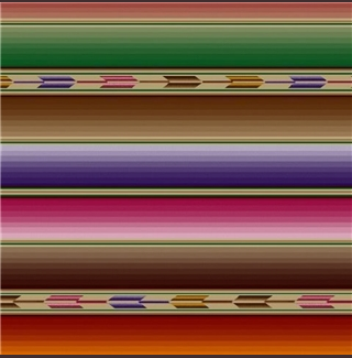 Rockmount Ranch Wear Home Fleece Blanket Serape Stripe