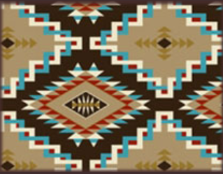 Rockmount Ranch Wear Home Fleece Blanket Native American Inspired Tan