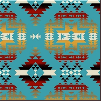 Rockmount Ranch Wear Western Blanket Turquoise