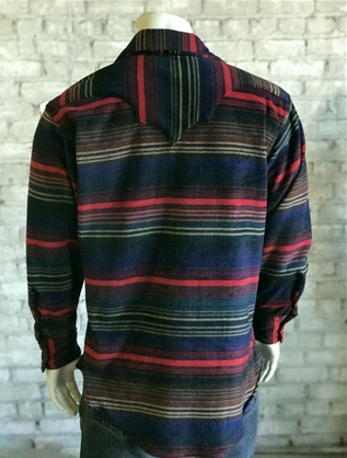 Rockmount Ranch Wear Mens Western Fleece Serape Shirt Back