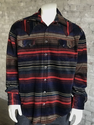Rockmount Ranch Wear Mens Western Fleece Serape Shirt Front