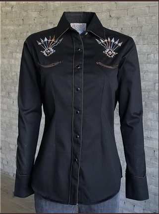 Rockmount Ranch Wear Ladies Vintage Inspired Western Shirt Follow Your Arrow Front