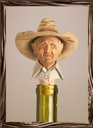 Cowboy Bottle Stopper: Gramps