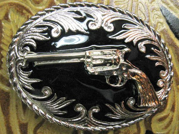 Rockmount Ranch Wear Trophy Oval Buckle Tri-Color Pistol