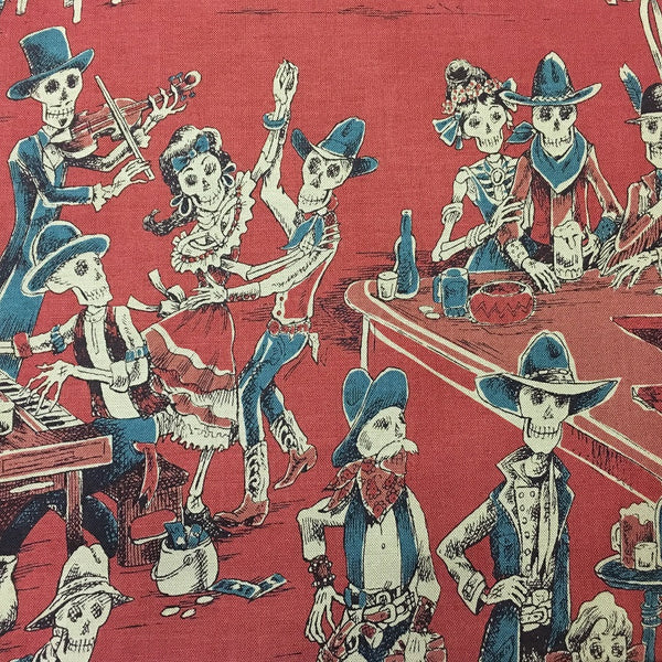 Rockmount Ranch Wear Bandana Deadwood Saloon Skeletons