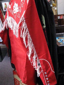 Vintage Inspired Western Shirt Ladies Rockmount Fringe Sleeve Red XS-XL