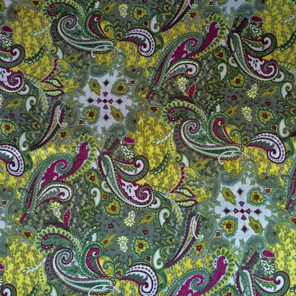 Rockmount Ranch Wear Scarf Silk Paisley Olive Square or Oblong