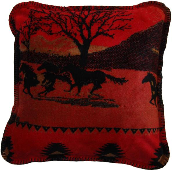 Denali Blankets Red Running Horses Pillow