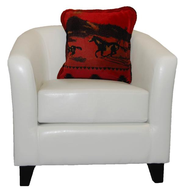 Denali Blankets Red Running Horses Pillow on Chair