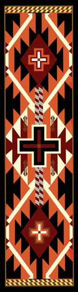 American Dakota Rug Rustic Cross Black Rectangle