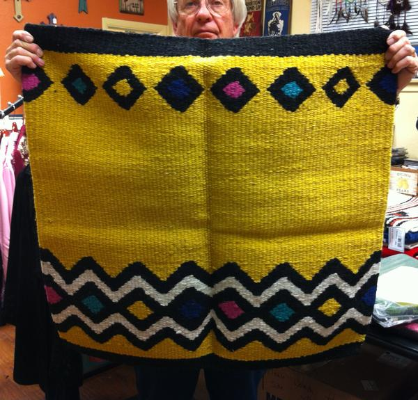 Saddle Blanket Yellow and Multi Color