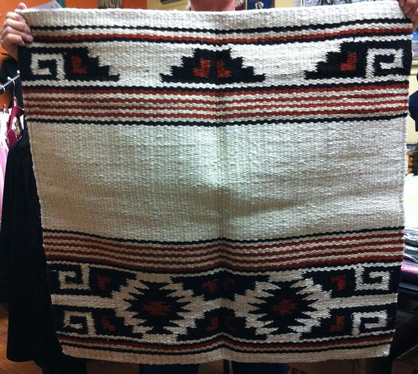 Saddle Blanket Aztec Pattern Black Red