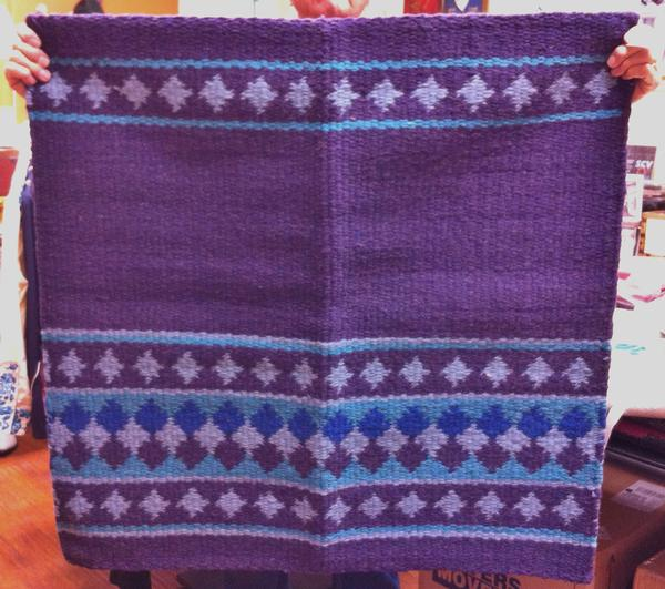 Saddle Blanket Fortune Maker Purple Turquoise