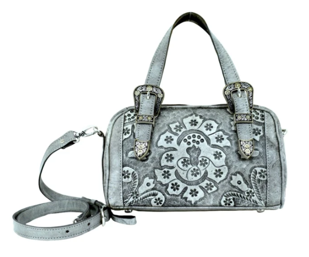 American West Heritage Hills Collection Satchel Safari Gray
