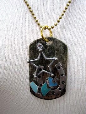Dog Tag Boot Star Horsehoe Necklace