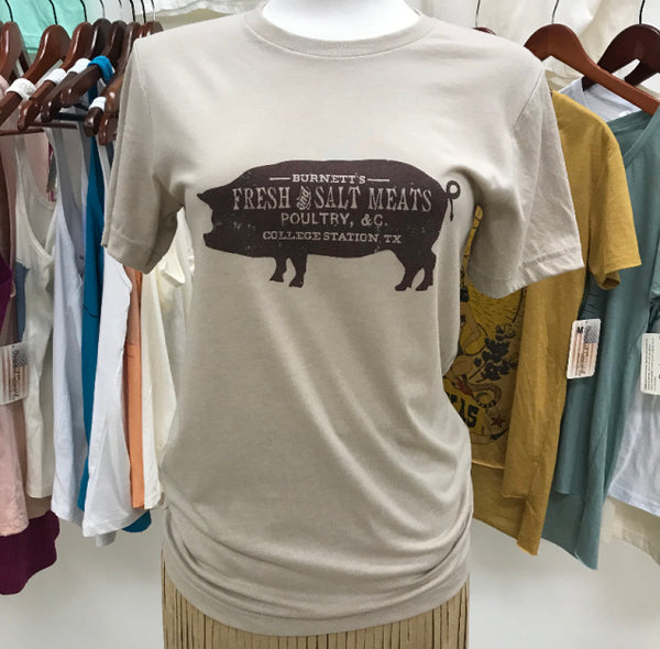 Original Cowgirl Clothing Ladies' T-Shirt Burnett's Fresh and Salted Meats