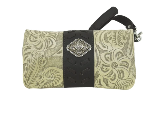 American West Grab and Go Foldover Crossbody Sand