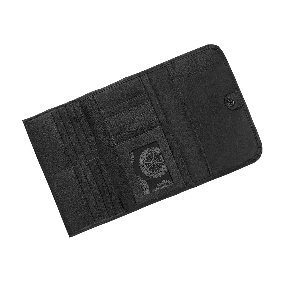 American West Santa Barbara Tri-Fold Wallet Interior Black