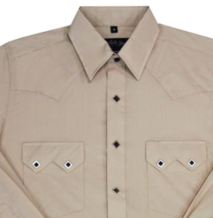 White Horse Apparel Men's Western Shirt Classic Sawtooth Pocket Stone