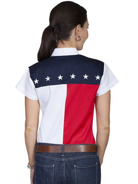 Vintage Inspired Western Shirt Ladies Scully Stars and Stripes S-2XL