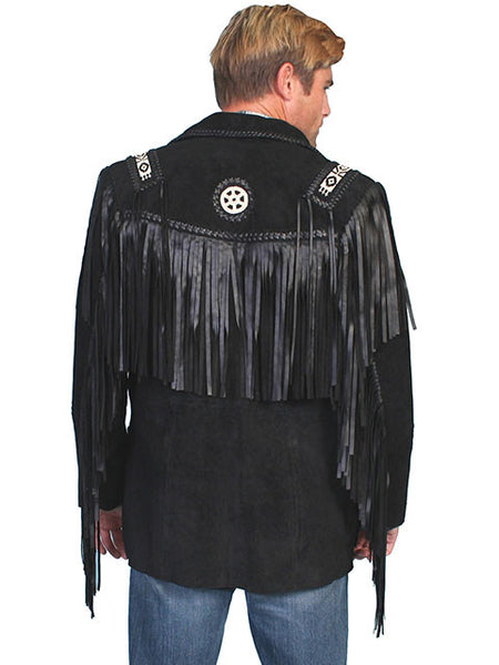 Scully Men's Suede Jacket with Fringe Front