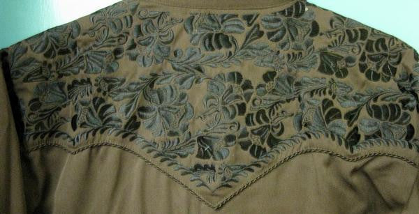 Vintage Inspired Western Shirt Mens Scully Gunfighter Chocolate Back S-2XL