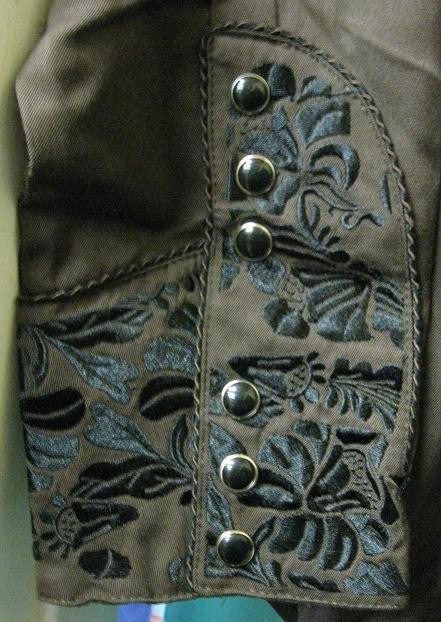 Vintage Inspired Western Shirt Mens Scully Gunfighter Chocolate Cuff S-2XL