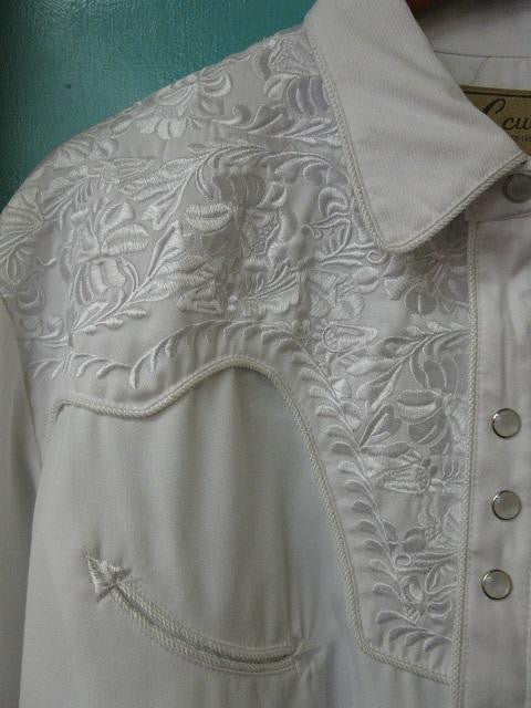 Western Shirt Ladies Scully Gunfighter White Front XS-2XL