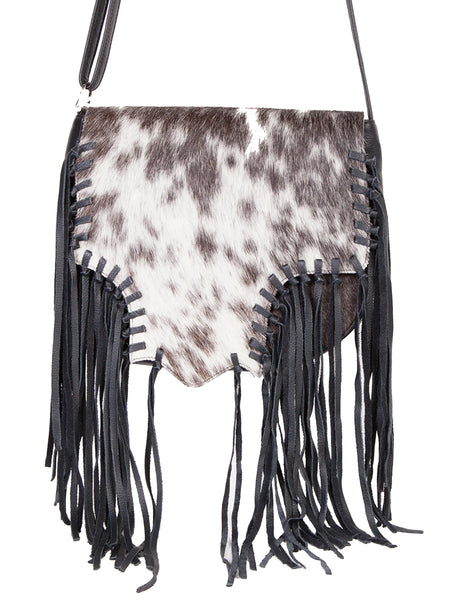Scully Leather Co. Shoulder Bag Hair on Cowhide with Fringe