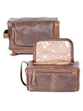 Scully 81st Aero Squadron Airborne Dop Shave Toiletry Kit Open