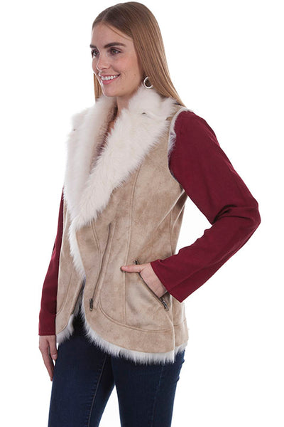 Scully Ladies' Honey Creek Faux Fur Vest Front
