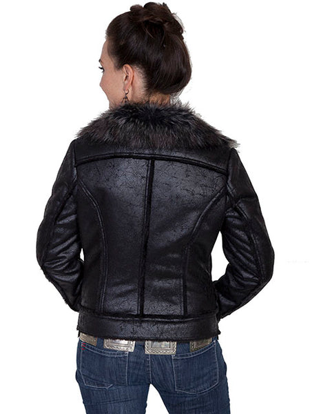 Women's Honey Creek Outerwear Collection: Faux Fur Motorcycle Style