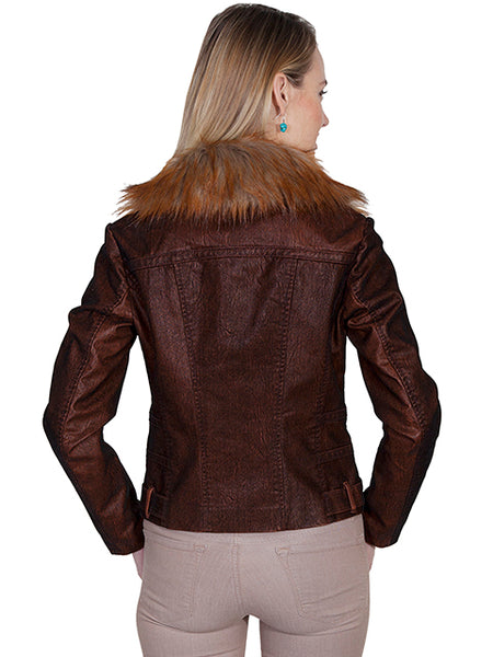 Scully Ladies' Honey Creek Faux Fur Copper Jacket Front