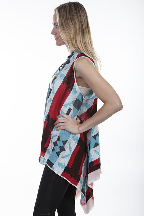 Honey Creek Western Geometric Print Vest Side S-XL