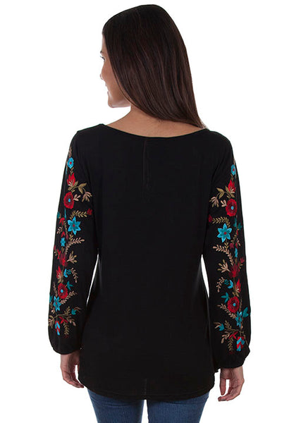 Scully Ladies' Honey Creek Floral Embroidered Tunic Front