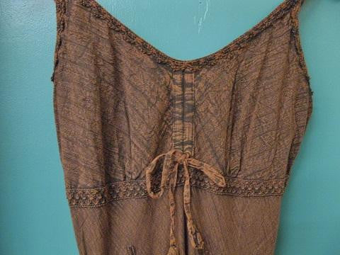 Women's Honey Creek Collection Dress: Spaghetti Straps Copper