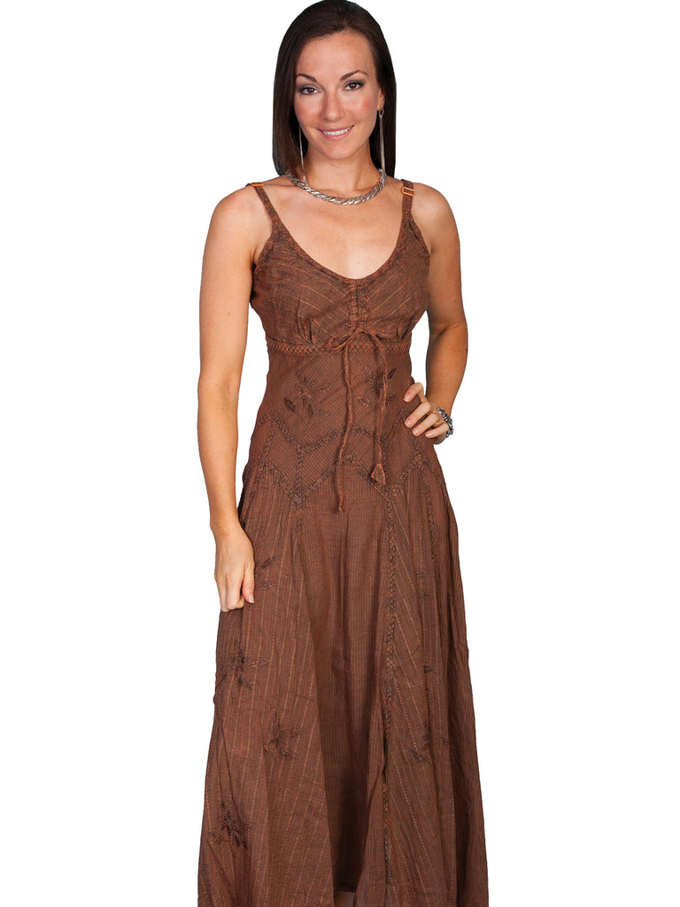 Honey Creek Dress Spaghetti Strap, Adjustable Hem, Copper S-2XL