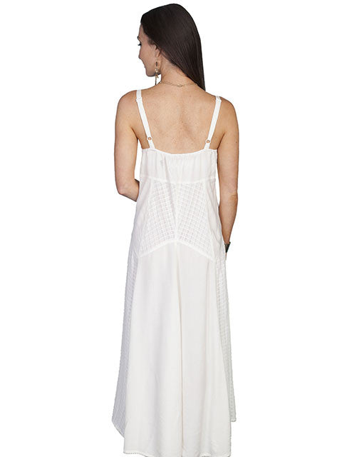 Honey Creek Dress Spaghetti Strap, Multi Fabric, Ivory, S-2XL Back