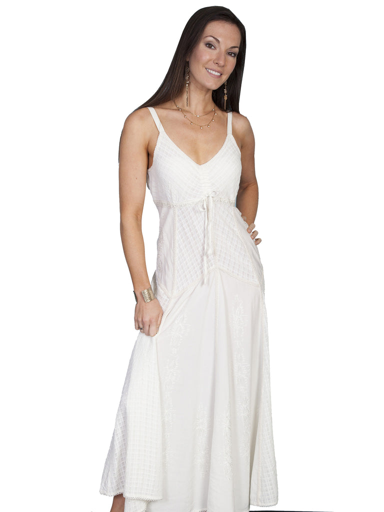Honey Creek Dress Spaghetti Strap, Multi Fabric, Ivory S-2XL