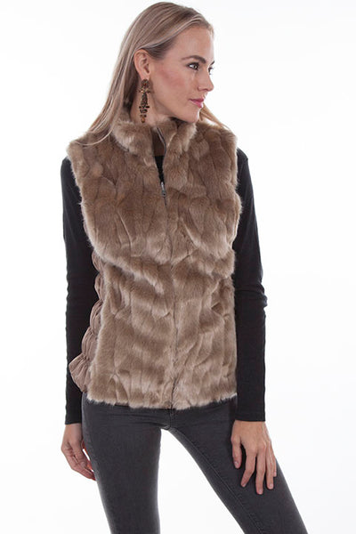 Scully Ladies' Honey Creek Faux Fur Zip Up Front Ivory