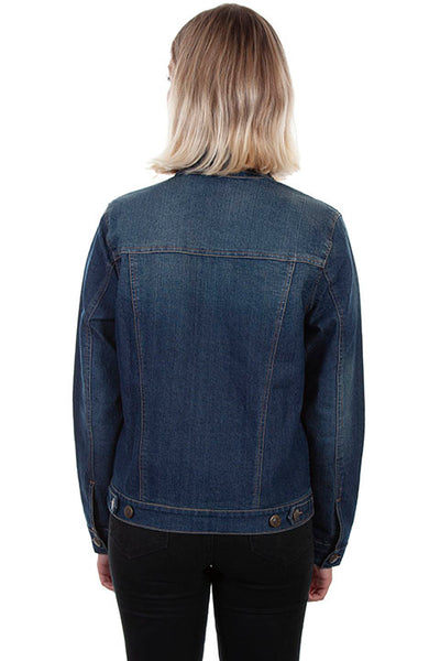 Scully Ladies' Honey Creek Denim Jacket Floral Embroidery Front